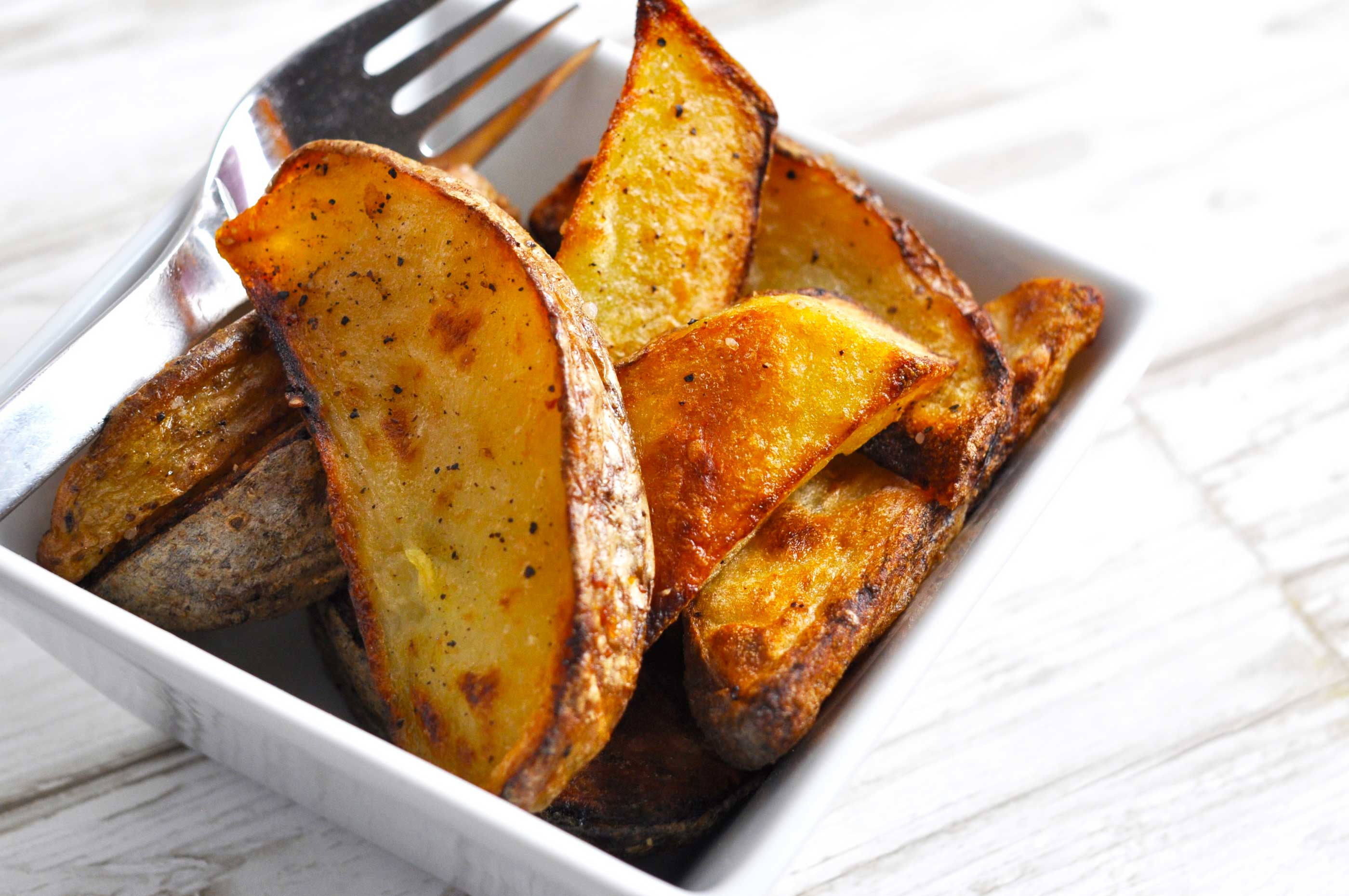 sprøde kartofler i ovn
