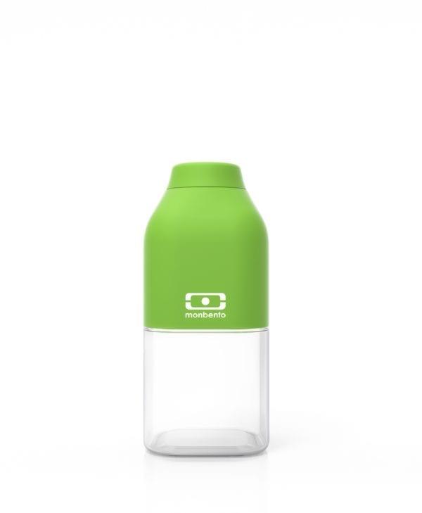 Lille drikkedunk til børn. Vandflaske med skruelåg og uden BPA. Monbento MB Positive 33 cl (grøn)