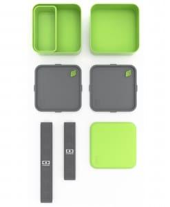 Monbento MB Square grøn med rumdeler