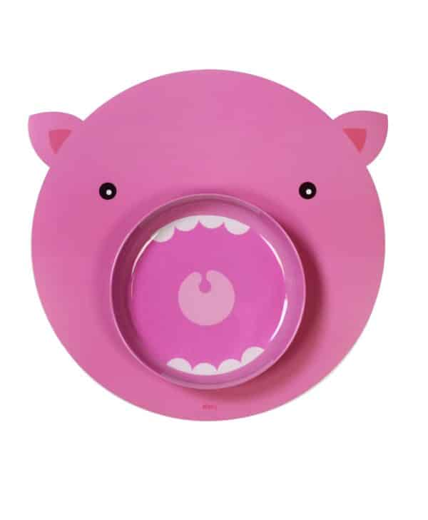 DOIY Hungry Mats tallerken til børn - gris