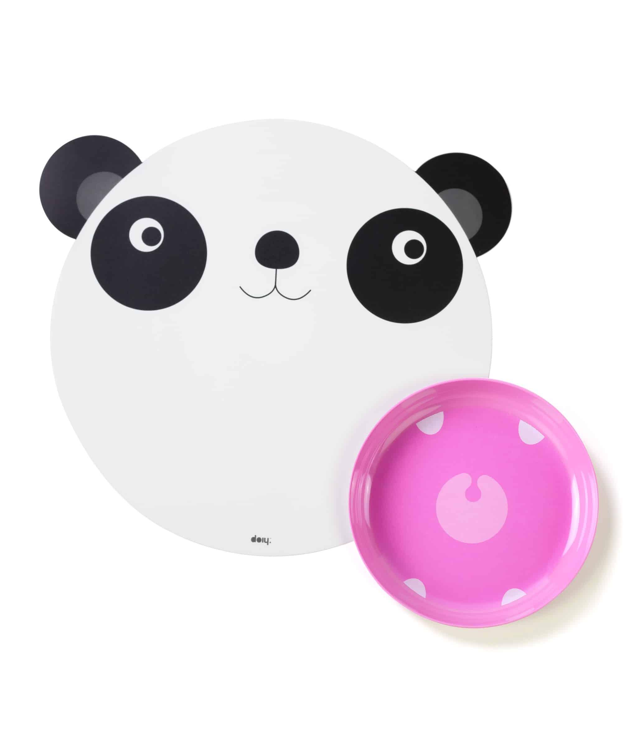 DOIY Hungry Mats tallerken panda