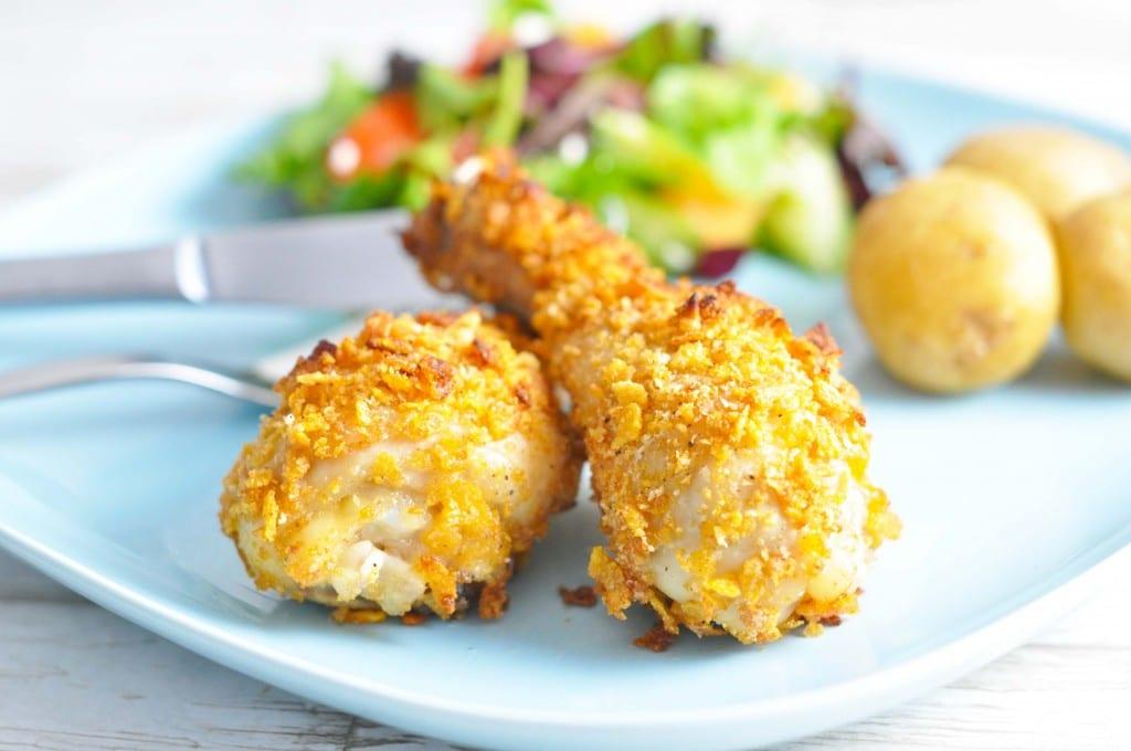 Kyllingelår med cornflakes