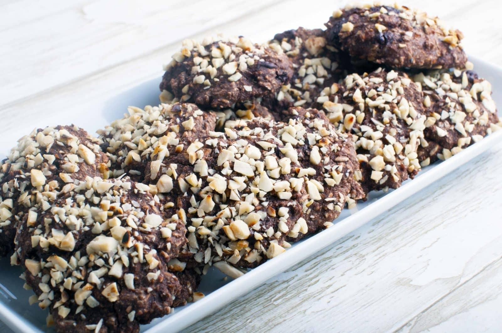 Rugbrødssnacks med mørk chokolade