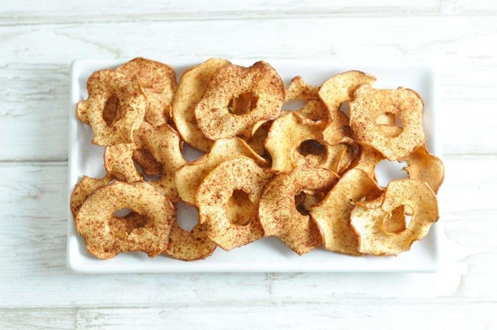 Sprøde æblechips