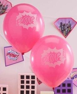 Balloner-til-foedselsdag-pink superhero