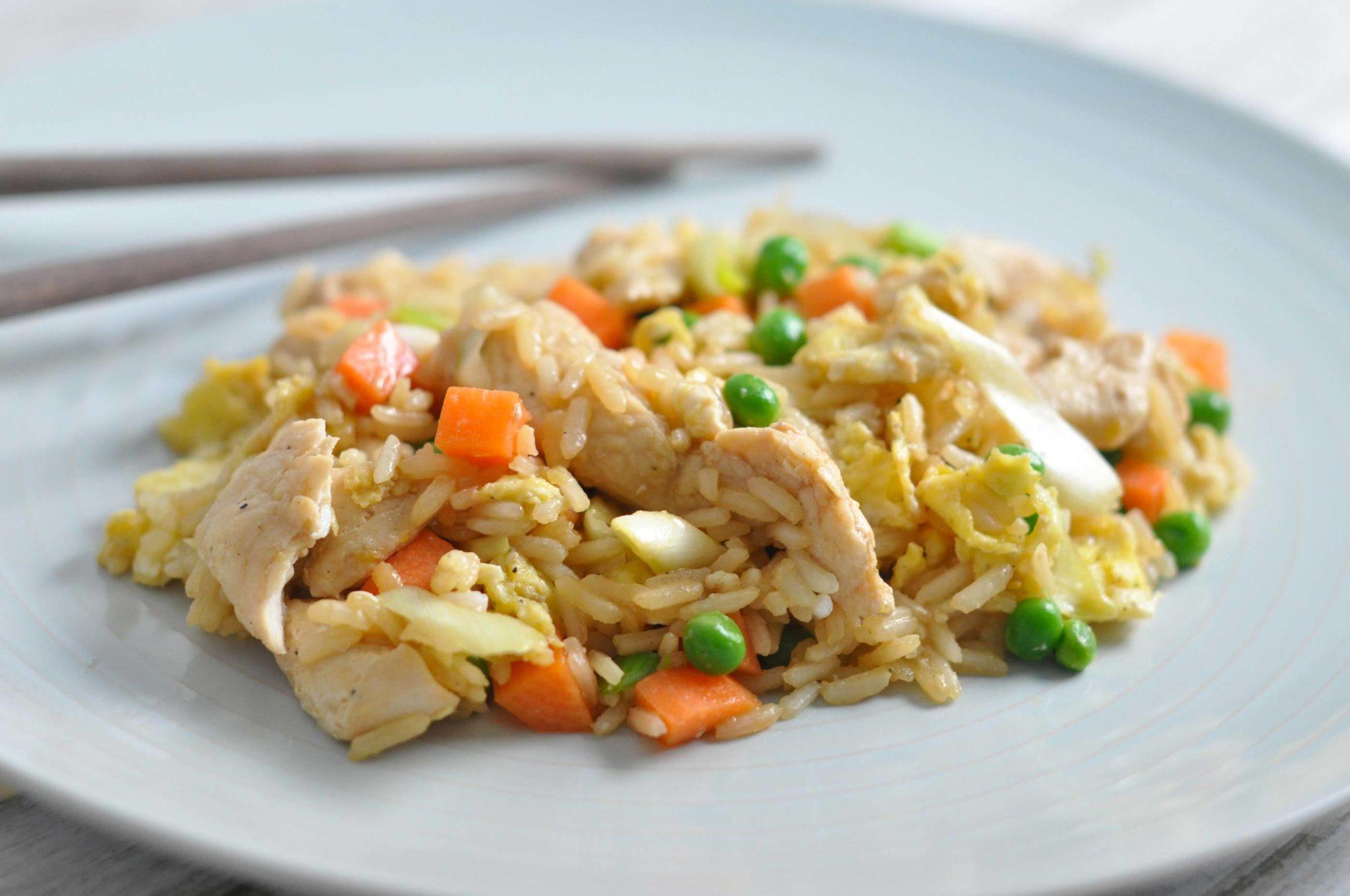ris og kylling