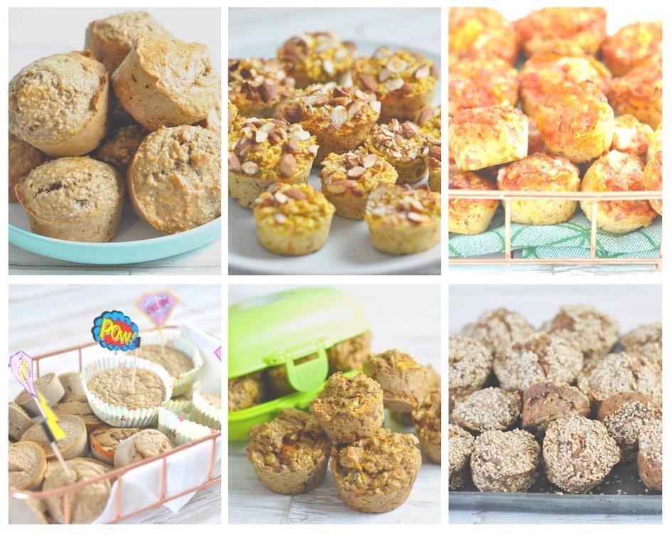 Seks muffins til madpakken