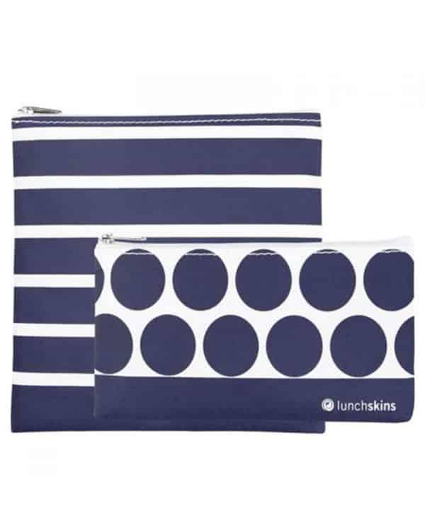 Laekkert-saet-med-to-smarte-genanvendelige-poser-med-lynlaas-i-navy-stripes