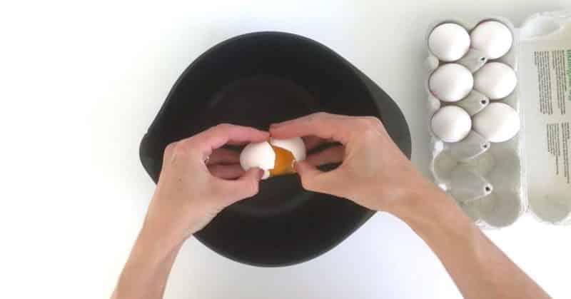 Undgå æggeskaller i maden