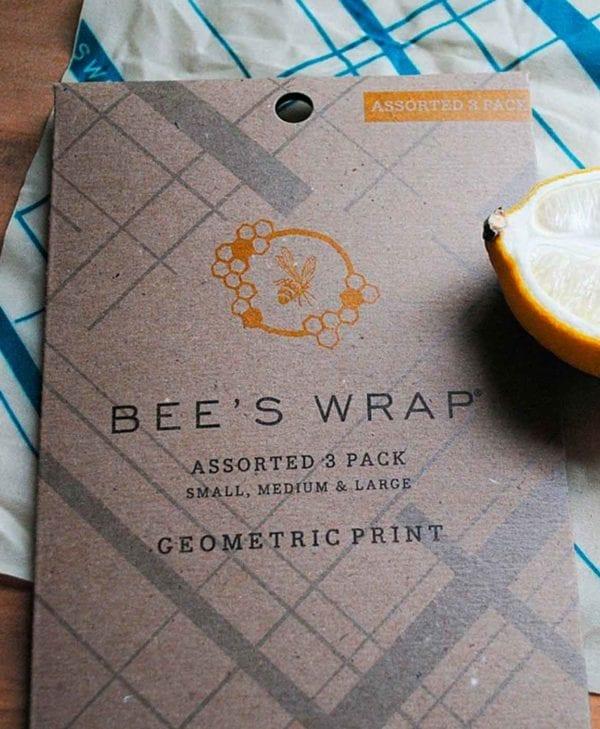 Bees wrap indpakning mix pakke med geometrisk mønster