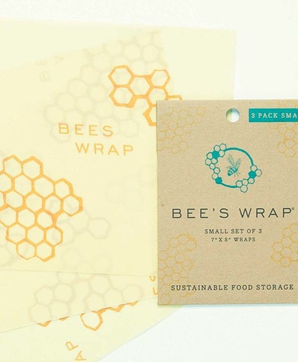 Bees wrap pakke med tre små stykker til madindpakning