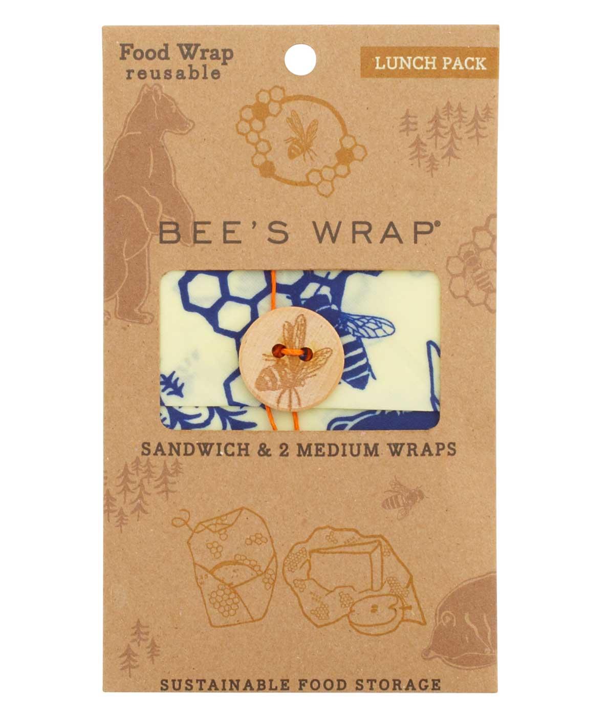 Bees wrap smart genbrugelige indpakning af sandwich