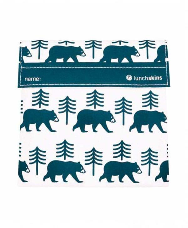 Genanvendelig frugtpose med grå bjørne
