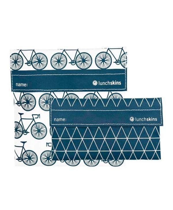 Lunchskins 2 snackposer med cykler