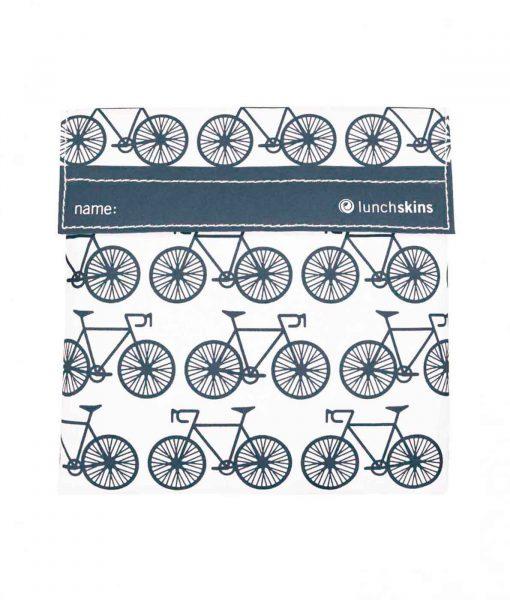 Praktisk stor frugtpose med grå cykler