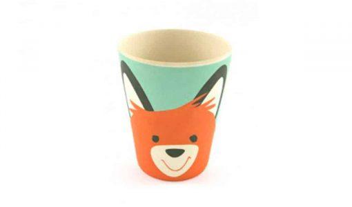 Sød kop i bambus med ræv