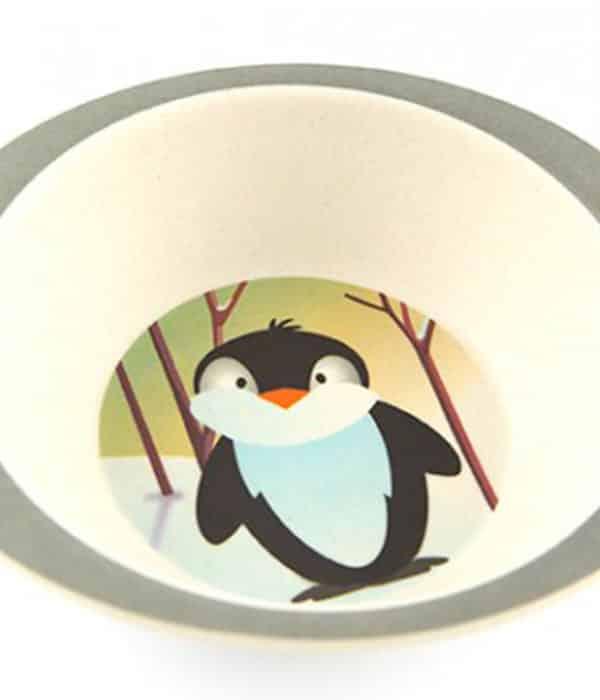 Sød skål til børn med pingvinmotiv