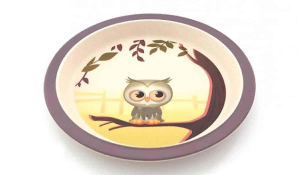 Sød tallerken til børn med ugle