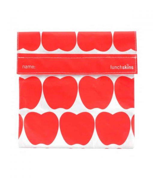Stor frugtpose med røde æbler