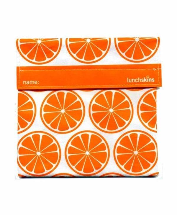 Stor genanvendelig snackpose med orange appelsiner