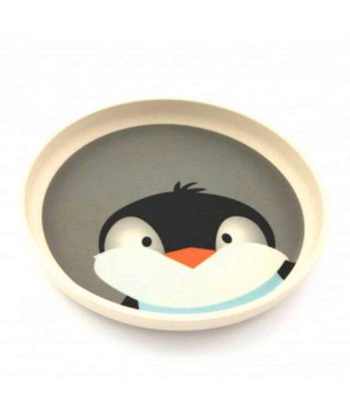 YUUNAA børnetallerken med pingvin