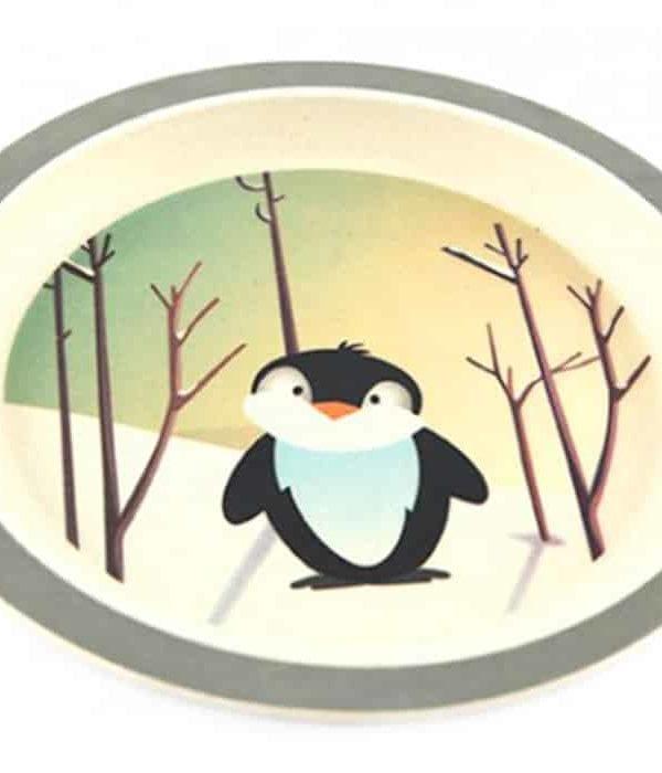YUUNAA pingvin tallerken i bambus