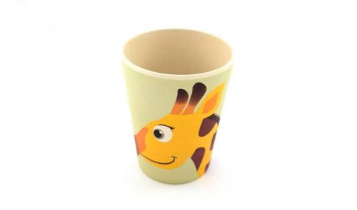 Fin kop i bambus med giraf
