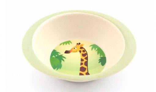 Fin skål i bambus med giraf