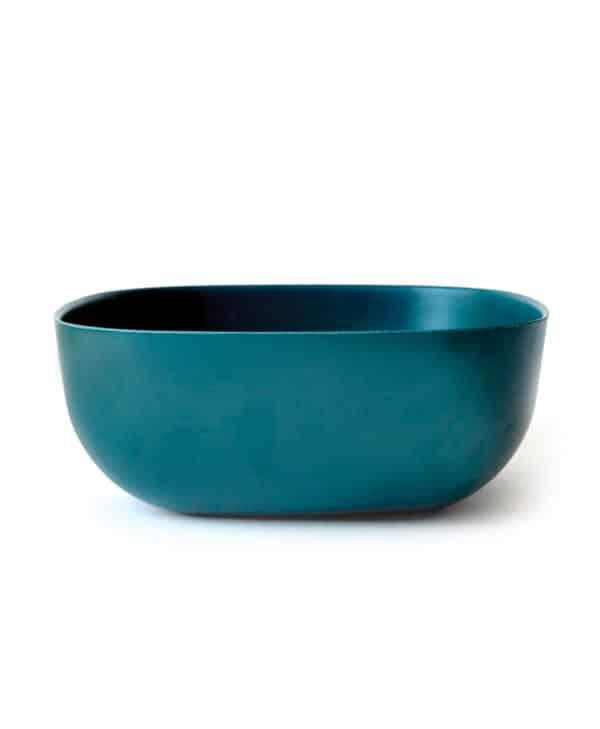 Flot salatskål fra Ekobo i lækker petroleumsfarve