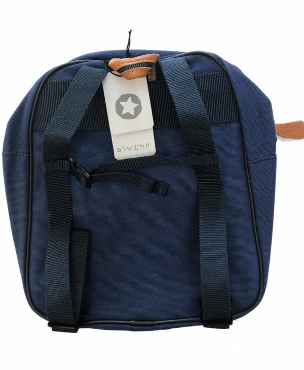Smallstuff børnehave- og turtaske - mørkeblå bagside