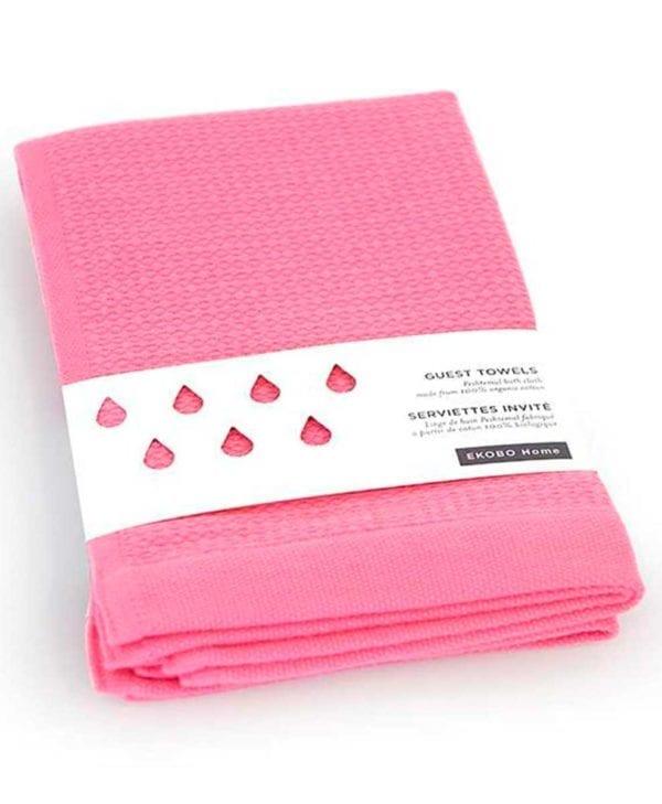 Gæstehåndklæde-i-økologisk-bomuld-by-Ekobo-lyserød
