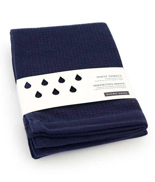 Gæstehåndklæde-i-økologisk-bomuld-by-Ekobo-mørkeblå