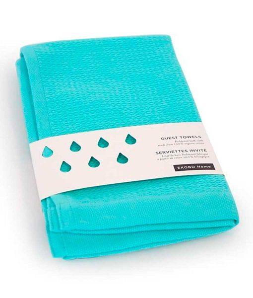 Gæstehåndklæde-i-økologisk-bomuld-by-Ekobo-turkis