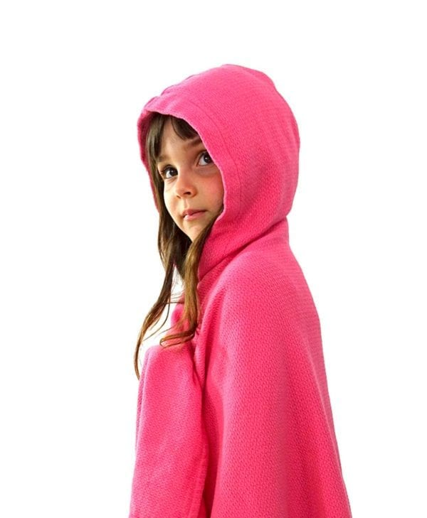 Lækkert håndklæde til børn med hætte fra Ekobo