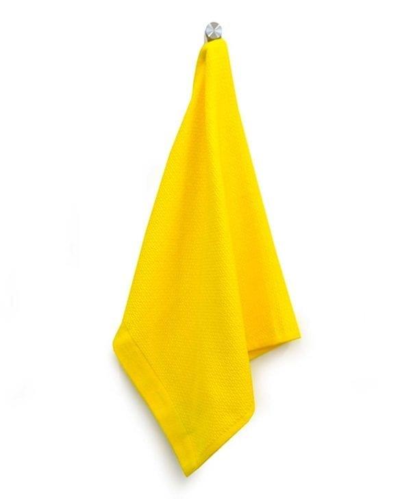 Lille håndklæde eller viskestykke i økologisk bomuld by Ekobo gul