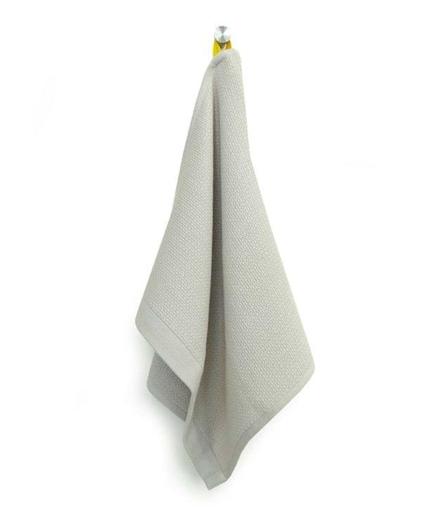 Lille håndklæde eller viskestykke i økologisk bomuld by Ekobo sand