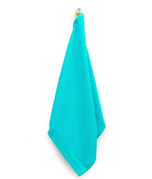 Lille håndklæde eller viskestykke i økologisk bomuld by Ekobo turkis