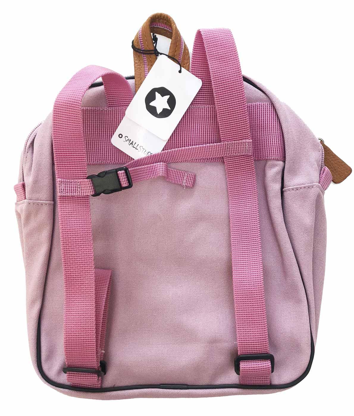 Smallstuff børnehave- og turtaske - lyserød bagside
