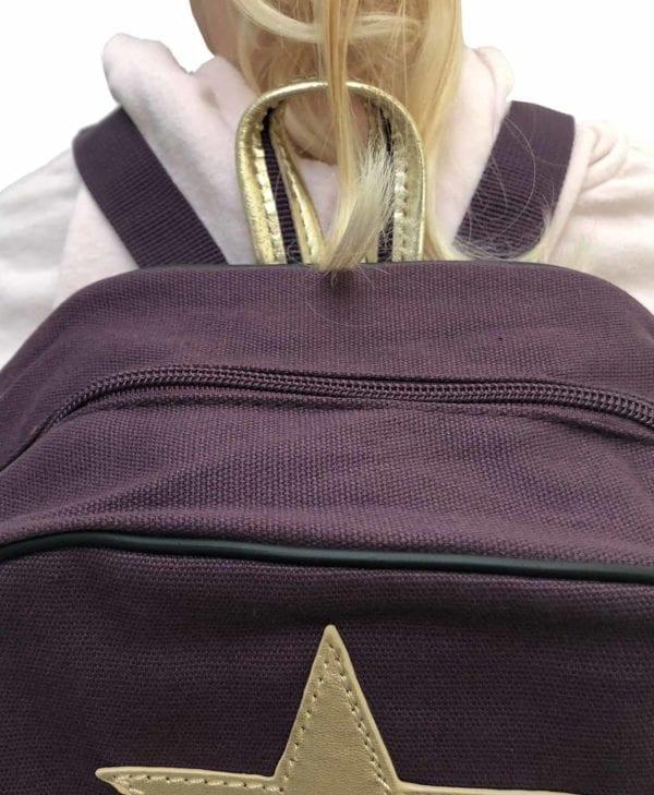 Smallstuff børnehave- og turtaske - aubergine detaljer