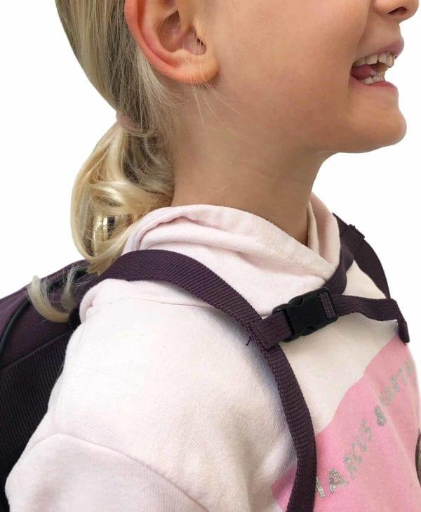 Smallstuff børnehave- og turtaske - aubergine brystrem