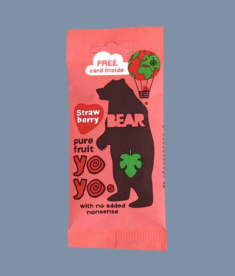 Bear Yo Yo strawberry - i Mambeno SnackBox