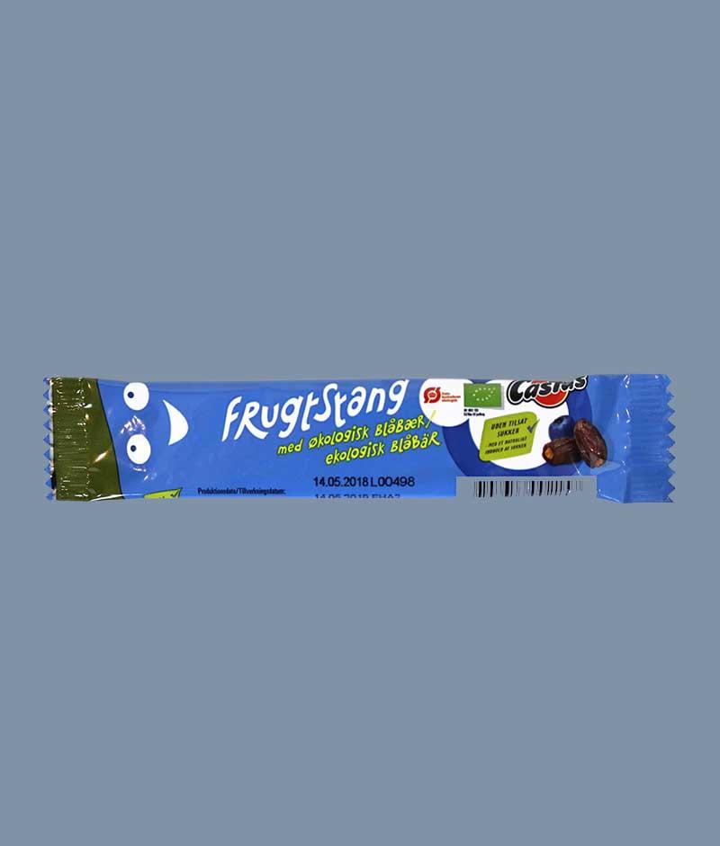 Økologisk Castus frugtstang med blåbær - i Mambenos SnacBox