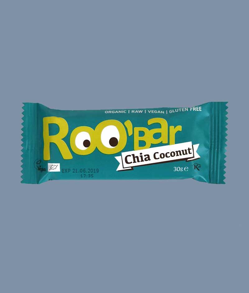 Roo'bar Chia & Coconut - i Mambeno SnackBox