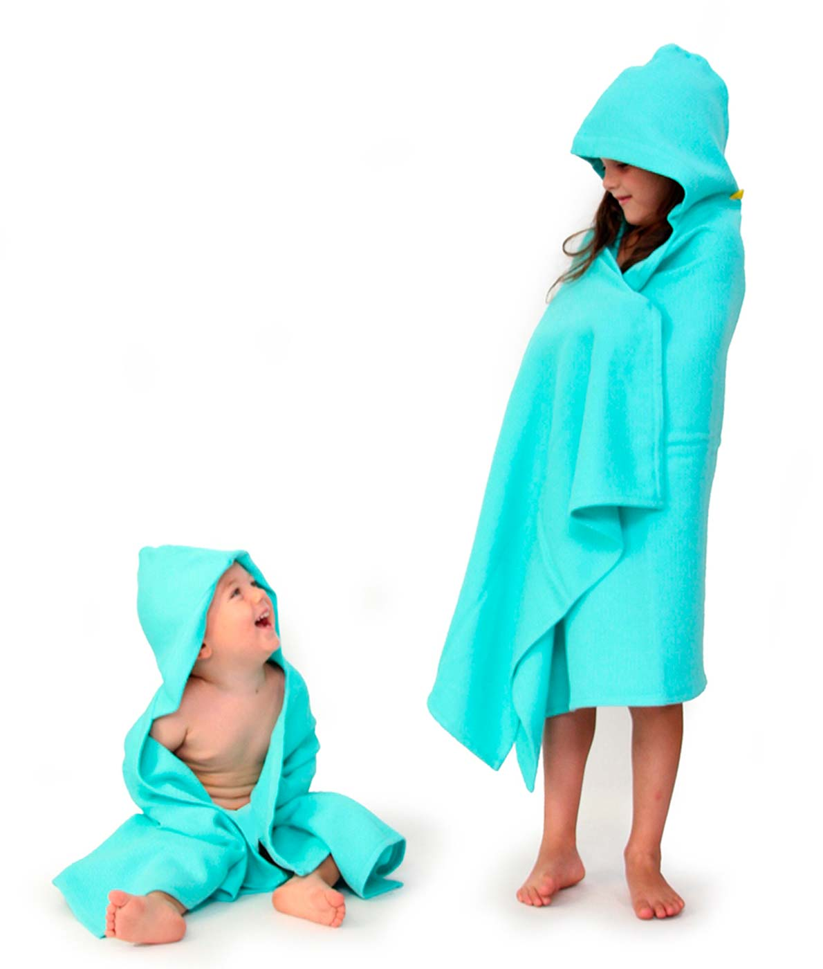 Flotte bløde håndklæder med hætte til børn fra Ekobo