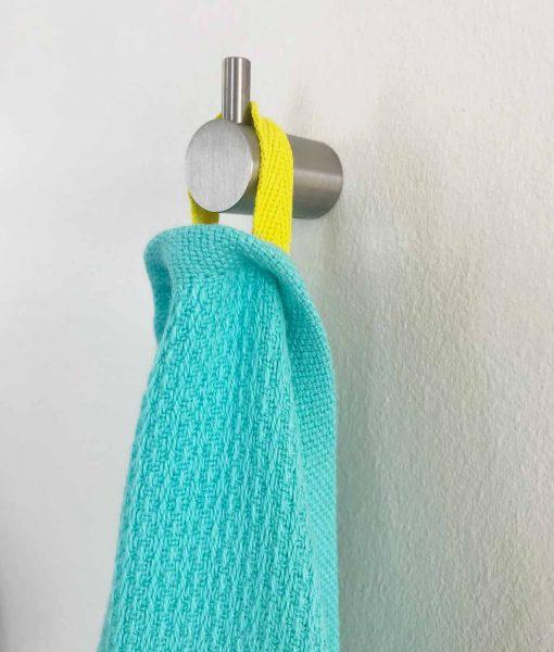 Turkis badehåndklæde i økologisk bomuld fra Ekobo