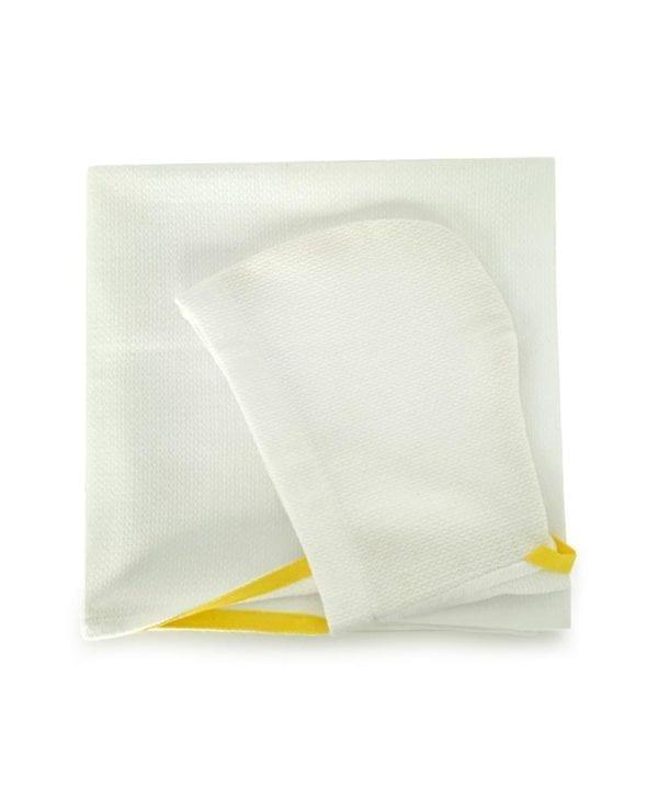 Økologisk baby-håndklæde-i-hvid fra Ekobo