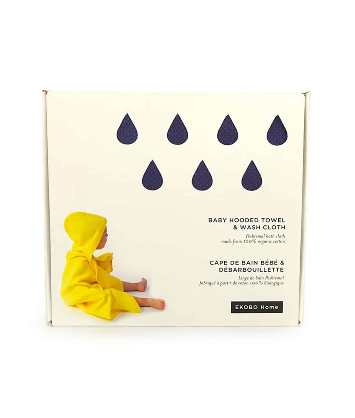 Økologisk badehåndklæde-til-babyer-inkl-vaskeklud-mørkeblå
