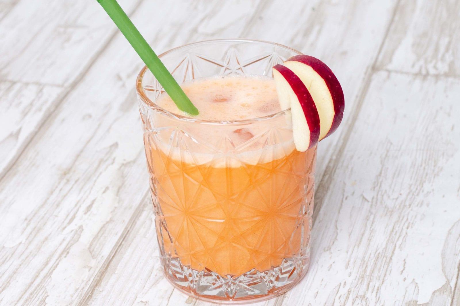 Æblejuice med gulerod og ingefær