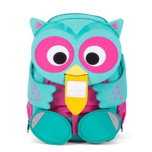 Affenzahn Oline ugle god rygsæk til børn med navneskilt