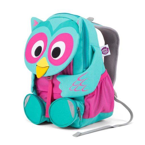 Affenzahn Oline ugle god rygsæk til børn med polstrede stropper